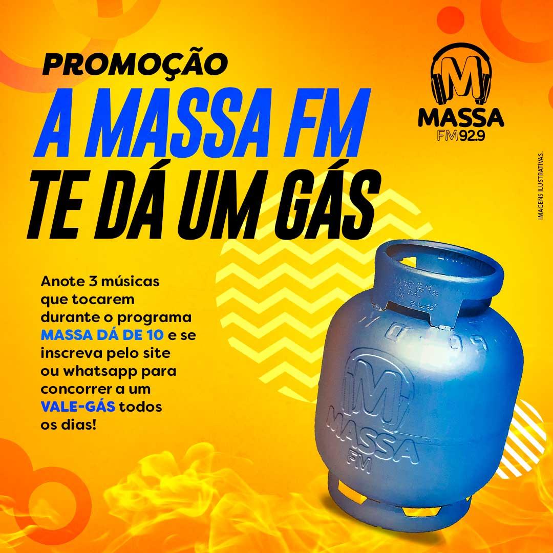 banner da promoção Massa FM Te Dá Um Gás